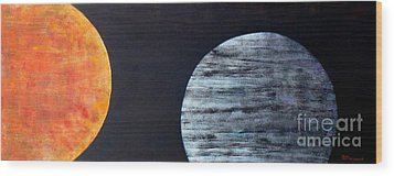 Wood Print featuring the painting Illumination by Barbara Moignard