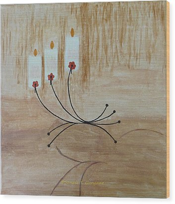 Wood Print featuring the painting Illumination by Sonali Gangane