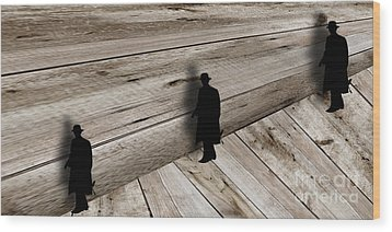 Illusion 2 Wood Print by John Walcott