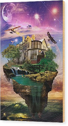 Imagination Home Wood Print by Kenal Louis