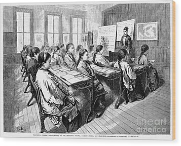 Immigrants: Chinese, 1876 Wood Print by Granger