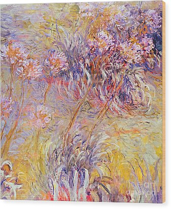 Impression - Flowers Wood Print by Claude Monet