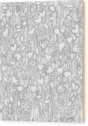 Impression Of Love Wood Print
