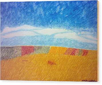 Impressionist Fields Wood Print by Nicole whittaker