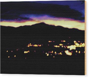 Impressionistic Pikes Peak Wood Print by Clarice  Lakota