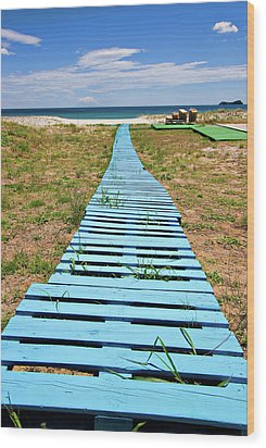 Improvised Boardwalk Wood Print by Meirion Matthias