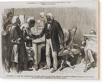 In 1877 Frederick Douglass 1818�1895 Wood Print by Everett