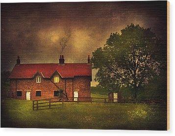 In A Village Wood Print by Svetlana Sewell
