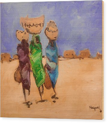 in Darfur 2 Wood Print by Negoud Dahab