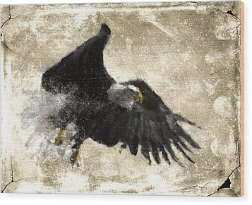 Wood Print featuring the digital art In Flight 8 by Carrie OBrien Sibley