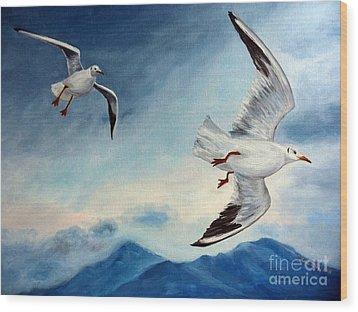 In Flight Wood Print by Julie Brugh Riffey