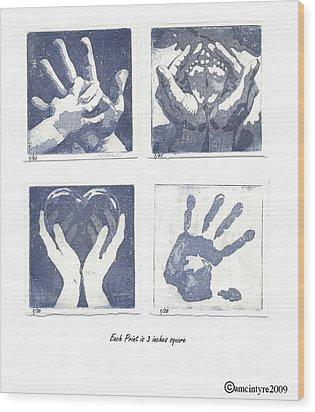 In His Hands Wood Print by Amanda McIntyre