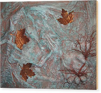 In His Hands Wood Print by Cristy Crites