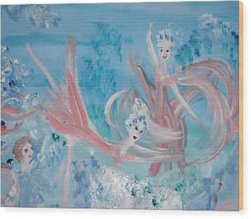 In My Dreams Im Dancing Wood Print by Judith Desrosiers