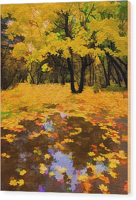 In The Autumn Mood Wood Print by Vladimir Kholostykh