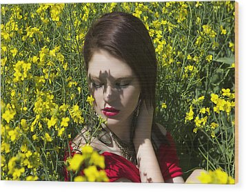 In The Canola Wood Print by Waywardimages Waywardimages
