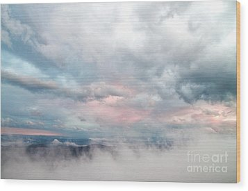 Wood Print featuring the photograph In The Clouds by Jeannette Hunt