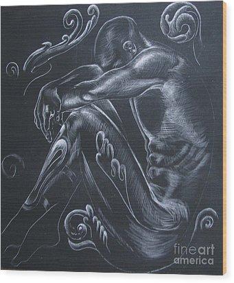 In The Dark... Wood Print