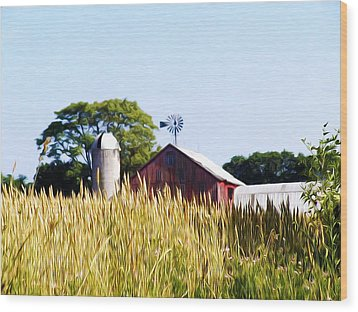 In The Farmers Field Wood Print by Bill Cannon