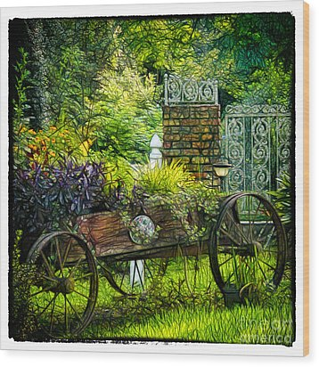 In The Garden Wood Print by Judi Bagwell