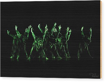 In The Green Light Wood Print by Raffaella Lunelli