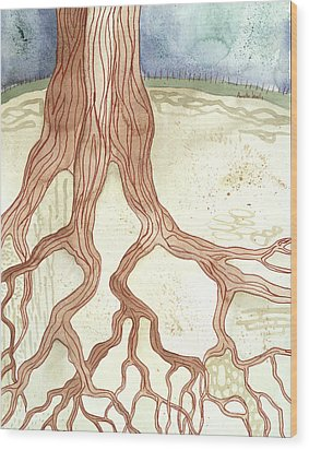 In The Ground Beneath Wood Print by Annette Janelle Provenzo