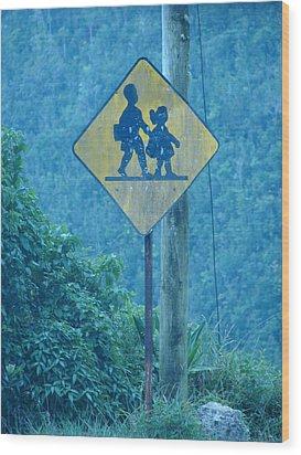 In The Hills Of Saint Ann Parish Wood Print by K Walker