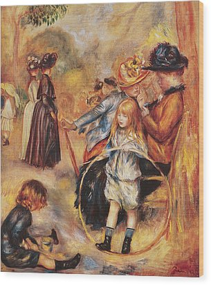In The Luxembourg Gardens Wood Print by Pierre Auguste Renoir