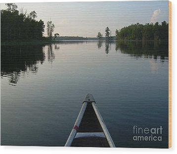 In The Old Canoe Wood Print by Alex Blaha