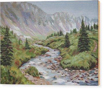 In The Rockies Wood Print