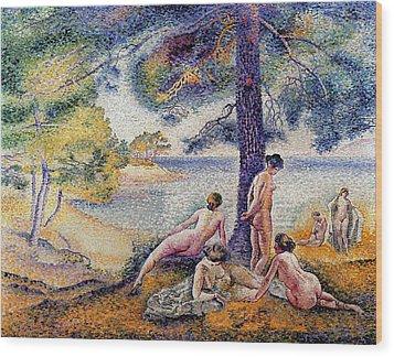 In The Shade Wood Print by Henri-Edmond Cross