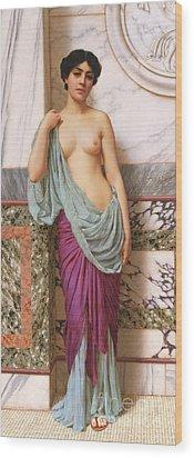 In The Tepidarium Wood Print by John William Godward