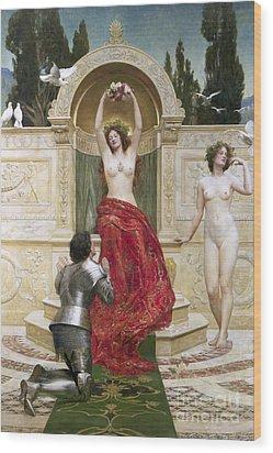 In The Venusburg Wood Print by John Collier