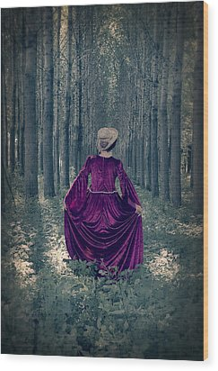 In The Woods Wood Print by Joana Kruse