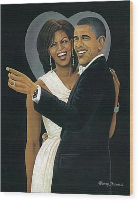 Inaugural Ball Wood Print by Henry Frison
