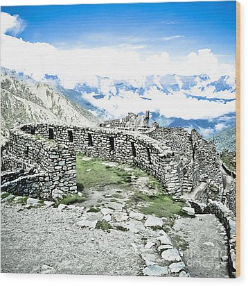 Inca Observatory Ruins Wood Print by Darcy Michaelchuk