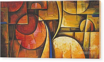 Inception Of Abstract 6 Wood Print by Uma Devi