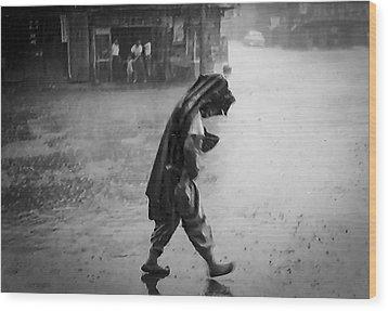 Inchon Monsoon 1955 Wood Print by Dale Stillman