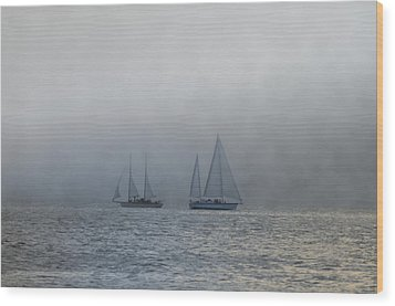 Incoming Fog Bank Wood Print by Bill Cannon