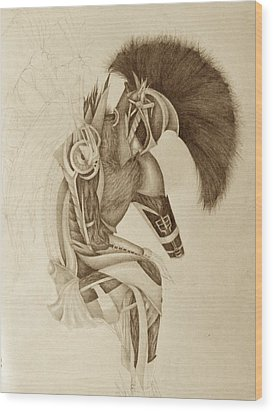 Incomplete Guardian  Wood Print by Melissa Cabigao