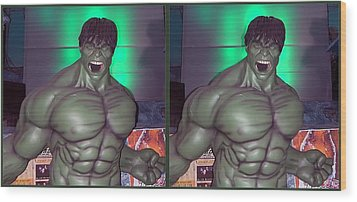 Incredible - Gently Cross Your Eyes And Focus On The Middle Image Wood Print by Brian Wallace