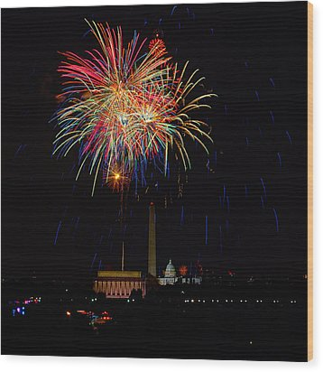 Independence Day In Dc 2 Wood Print by David Hahn