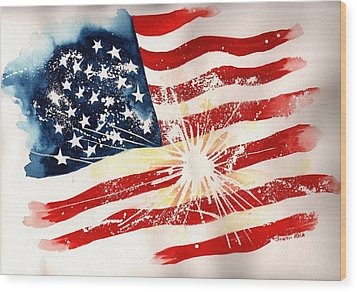 Independence Day Wood Print by Sharon Mick