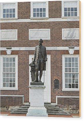 Independence Hall Philadelphia Wood Print by John Greim