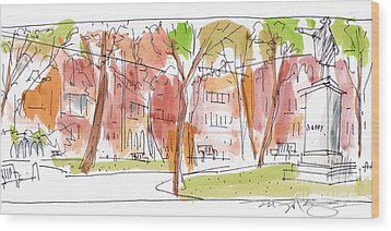 Independence Park Philadelphia Wood Print