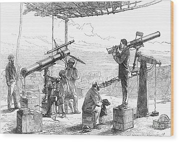 India Eclipse Expedition, 1872 Wood Print by Science Source