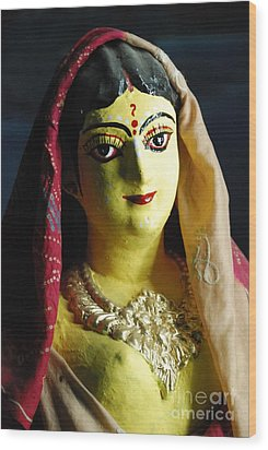 Wood Print featuring the photograph Indian Beauty by Fotosas Photography