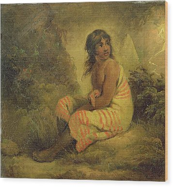 Indian Girl Wood Print by George Morland