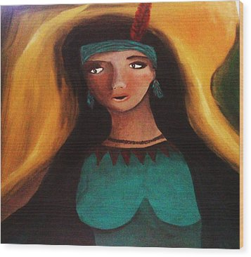 Indian Girlfriend Wood Print by Vickie Meza