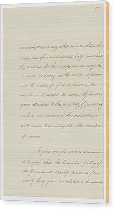 Indian Removal Act. Signed Into Law Wood Print by Everett